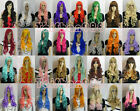 Hot Sell New Fashion Long Multicolor Curly Women's Lady's Hair Wig Wigs + Cap