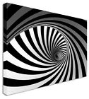 Large Zebra Spiral Canvas Wall Art Printed Pictures - Large+ Any Size