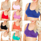 Womens Seamless Bra Leisure Crop Top Vest Sports Bra Bandeau New  Comfort Comfy