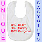 Personalised Baby Bib embroidered christening birth dribble newborn new Gift D9