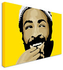 Marvin Gaye Smile Yellow - Canvas Wall Art Pictures For Home Interiors
