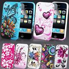 NEW STYLISH FLOWER GRIP SERIES CASE COVER FITS IPHONE 3G & 3GS SCREEN PROTECTOR