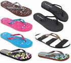 Womens Flip Flops Summer Beach Sandals Flats Thongs in Many Cool Styles & Colors