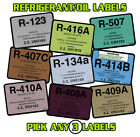 Refrigerant / Equipment / Oil Label - HVAC / Refrigeration , Labels Sold Each