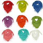 Womens Square Scarf with Beautiful Gold Lurex - Girls Vibrant Scarfs Scarves