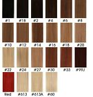 """More Colors New AAA+ 18""""-36"""" Remy Human Hair Weft In Extensions 100gr Approx 59"""""""