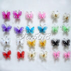 "50 Of 1"" 2.5cm Nylon Glitter Artificial Butterfly Rhinestone Wedding Favor"