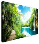 Large Picture Of Waterfall Forest Of Croatia Left Board Canvas Wall Art Print