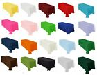 "12 Rectangle 60""×126"" Polyester Tablecloths 20 Colors 100% Seamless Made in USA"