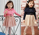 Girl Kids Baby Dresses Tutu Skirt Long Sleeve Clothing 1 PCS Costume 1-7Y Lovely