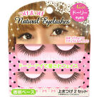 Waterlight Japan Makeup Natural Eyelash Kit (2 pairs) with Transparent Strip