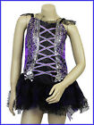 Monster Halloween Purple & Black Witch High Dress Age 7-10