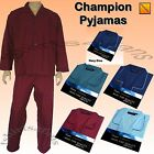 Mens New Comfortable Poly Cotton Plain Pyjama Set by Champion Pyjamas Pj's