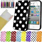 NEW STYLISH POLKA DOTS SERIES CASE COVER FITS IPHONE 4 4S FREE SCREEN PROTECTOR