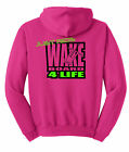 JUST RIDE WAKE BOARD 4 LIFE HOODIE SWEAT SHIRT SKATE BOAT RONIX LIQUID FORCE CWB
