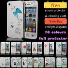 NEW STYLISH FULL BODY PROTECT HARD CASE COVER FITS APPLE IPHONE 4 4S
