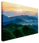 Green Mountain Landscape Canvas Wall Art Pictures For Home Interiors