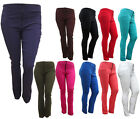 NEW LADIES STRETCH CHINO STYLE SKINNY FIT PLUS SIZE PANTS 16 18 20 22 24 26