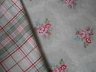 GreenGate Cotton Fabric Gabriella Linen or Naja Green Check by the Metre