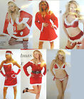 Sexy Santa Helper Miss Claus Ladies Womens Complete Costume's Christmas XMAS