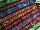 """Chinese tribal machine embroidered fabric belt 9cm/3.5""""width colors with pocket"""