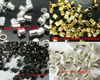 Wholesale 500pcs Silver/Golden/Black Tube Crimp End Stopper Spacer Beads 2mm