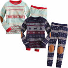 "NWT Vaenait Baby Toddler Kid's Long Sleeve Sleepwear Pajama Set ""Europe Alps"""