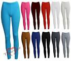 Womens Girls Plain Full Length Legging Ladies Trouser