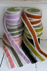 Velvet and Lace May Arts Ribbon (38mm wide), vintage colours - Price per meter