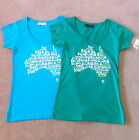 BILLABONG. Basic T-shirt in Blue & Green. Australian Design. RRP 49.95