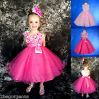One Shoulder Flower Girl Dress Wedding Bridesmaid Formal  Party Size 18m-8y #213