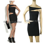Bandage Bodycon Celebrity Dress Evening Cocktail Party Prom Dress Black XS S M L