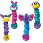Kong Squiggles Puppy Dog Interactive Squeaky Plush Soft Toys Small Medium Large