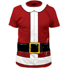 NEW Santa Claus Christmas Candy Cane Costume Outfit Suit Adult Sizes T-shirt top