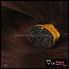 BROWN MICRO BEAD I TIP REMY HUMAN HAIR EXTENSIONS 1g Strands -  Aussie Seller