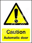 Caution Automatic door - WARN0046 Stickers & Signs