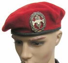 GERMAN ARMY PIONIERTRUPPE  RED BERET & BADGE
