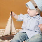 Melondipity Little Man Newsboy Crocheted Baby Boy Hat - Blue Beanie