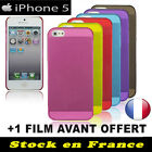 "Coque Transparente iPhone 5 Housse ""Extra Fine"" Rigide Housse Protection LOT"