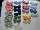 Crochet Bow Applique / Sew On / Scrapbooking / Embellishment Color Choice NEW