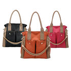 OVERSIZED Womens Designer Shoulder Bag Faux Leather Tote Across body Handbag UK
