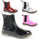 Ladies Funky Flat Heel Chelsea Retro Goth Punk Classic Ankle Boots Shoes Size