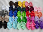 "4"" BOW HAIR CLIP PIN ALIGATOR GIRL CLIPS GROSGRAIN RIBBON BOW FLOWER GIRL"