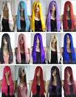 28'' 70 cm Long Straight Cosplay Costume Hair Wig All Color 15 Colors Free Ship