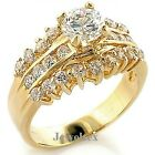 18ct Gold (GF) Engagement Ring Set with 1.45ct Brilliant CZ. RRP $89