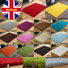 NEW SMALL THICK 5CM PILE PLAIN COLOUR PREMIUM QUALITY NON SHEDDING SHAGGY RUGS