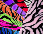 ZEBRA FAUX Fur Fabric / Sold by the yard