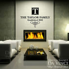 Personalized Custom Family Name & Est Date Vinyl Wall Quote Decal Sticker Home