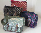 Genuine oil cloth spotty satchel strap 2 pocket side hand bag polka-dot pokerdot