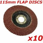 10 x  Flap Discs 115mm x 22.2mm, sanding discs, abrasive wheel for angle grinder